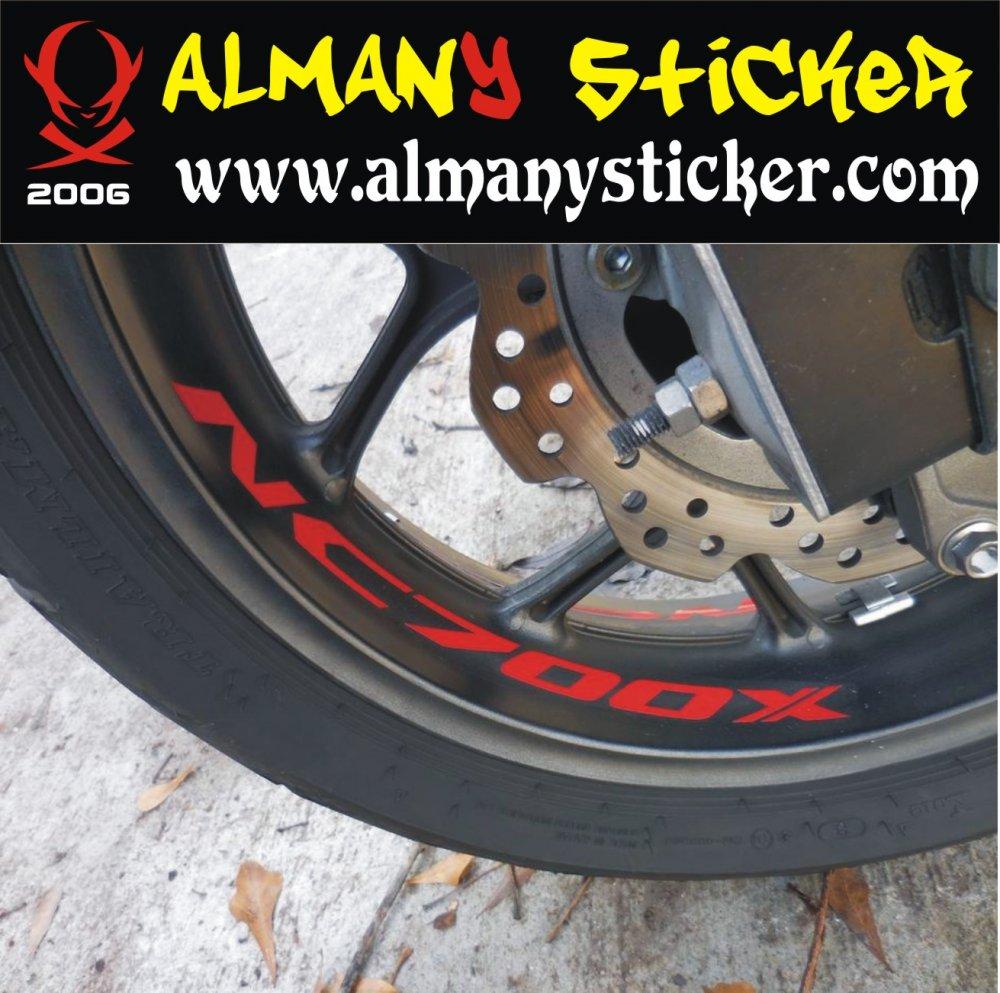 Honda Nc700x Jant Ici Sticker Set