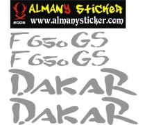 Bmw Gs F650 Dakar Sticker Set