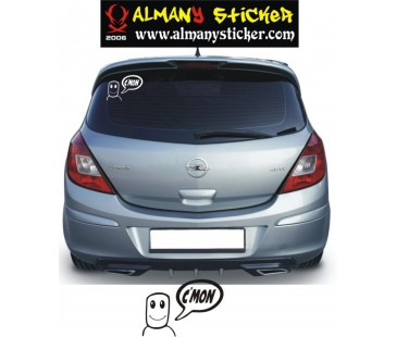 ,Opel C'mon Sticker,Opel Sticker,astra sticker,oto sticker