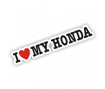 I Love My Honda Sticker