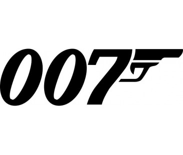 007 James Bond Sticker,oto sticker