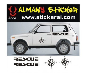 Lada Niva Sticker Set-5