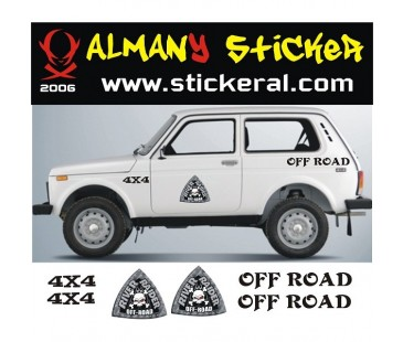Lada Niva Sticker Set-4