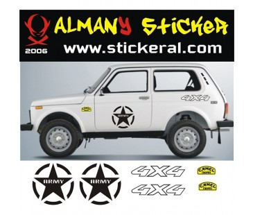 Lada Niva Sticker Set-3