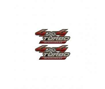 4 x 4 Turbo İntercooler Sticker,