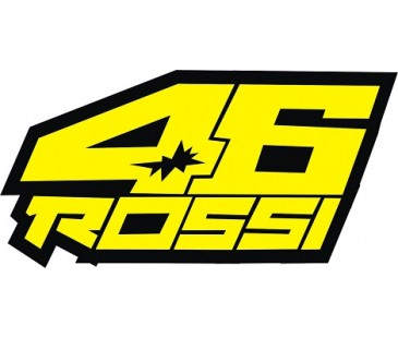 46 rossi sticker,motosiklet sticker