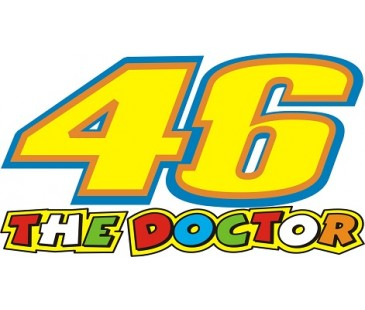 46 the doctor sticker,motosiklet sticker