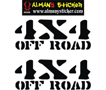 4x4 Jeep Sticker