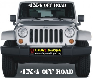 4x4 Off Road Ön Cam Sticker,Jeep Sticker