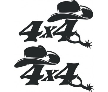 4x4 kovboy sticker,jeep sticker,off road sticker