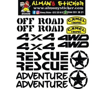 ATV STİCKER SET,4x4 Off Road Sticker SET-344