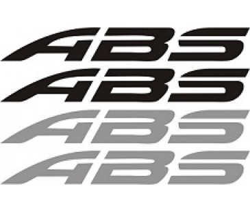 Abs sticker set,motosiklet sticker