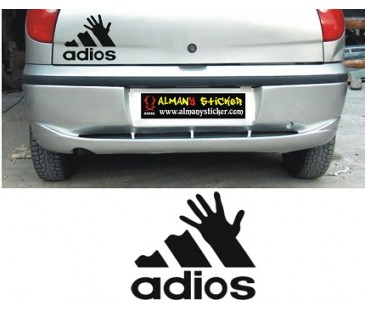 Adios sticker,oto sticker