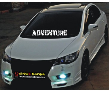 Adventure Sticker (Maceracı),oto sticker,