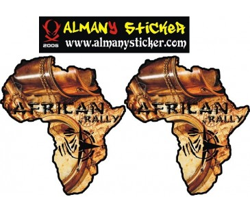 Africa haritası off road sticker
