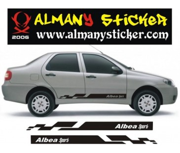 Albea sport sticker,albea sticker oto sticker