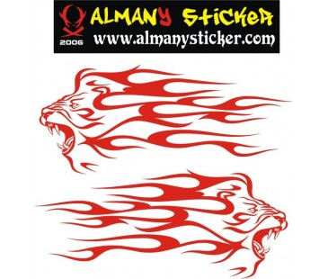 Alevli Aslan Sticker