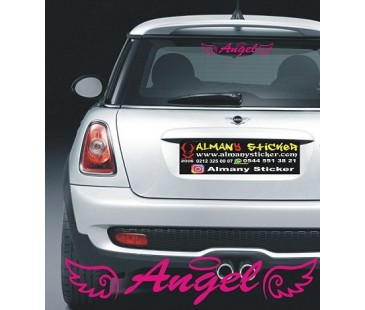 Angel,melek sticker,oto sticker,mini cooper sticker