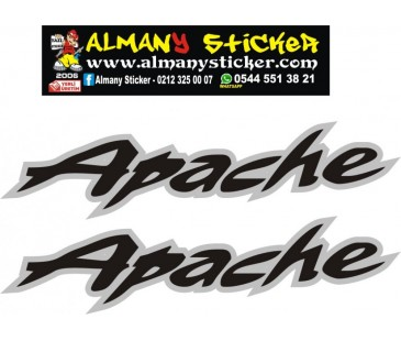 Apache depo sticker,motosiklet sticker