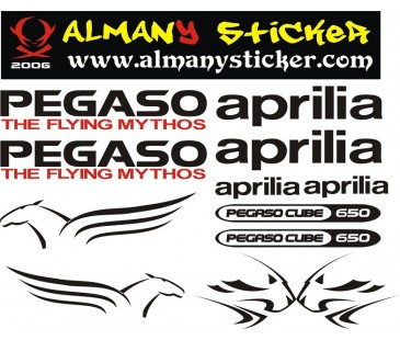 Aprilia Pegaso sticker set,motosiklet sticker