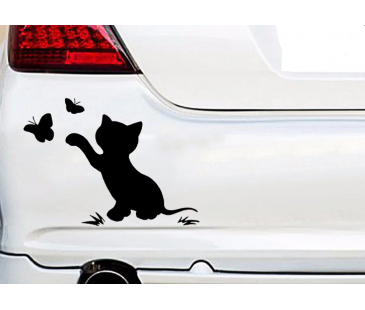 Araba sticker,kedi sticker,oto sticker,yazı