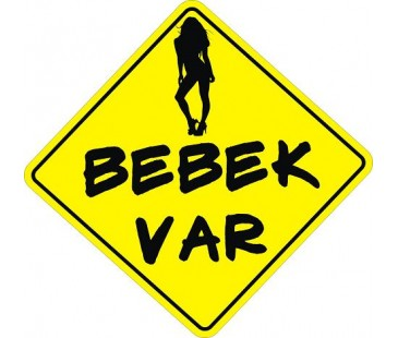 Arabada Bebek Var Sticker-2,oto sticker