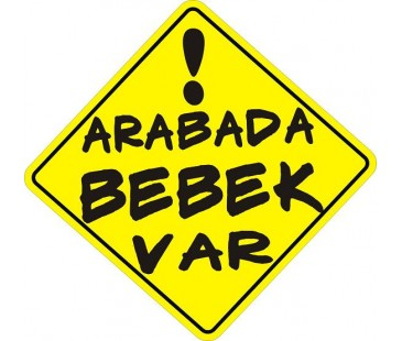 Arabada Bebek Var Sticker-3,oto sticker