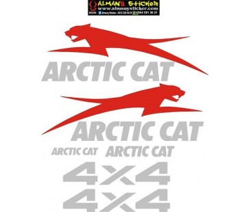 Arctic Cat sticker set,4x4 sticker,atv sticker set