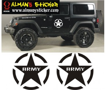 Army Jeep Sticker
