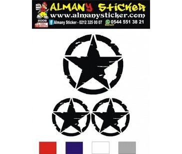 Askeri,army sticker,jeep sticker,oto sticker