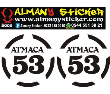 Atmaca 53 sticker,yazı,atmaca,53,rize sticker,oto sticker,motosiklet sticker