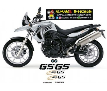 BMW GS F650 STİCKER SET-2,F650 STİCKER