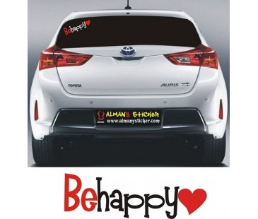 Be Happy Sticker (Mutlu Ol),oto sticker