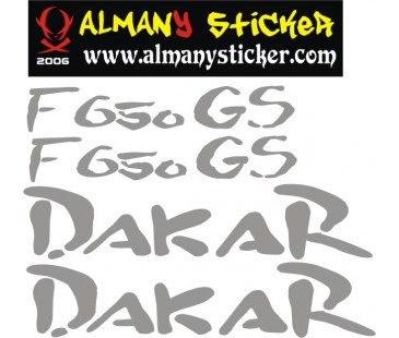 Bmw Gs F650 Dakar sticker set