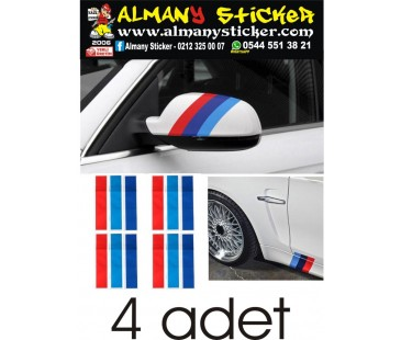 Bmw Şerit Sticker,marşbiyel ve ayna üzeri sticker