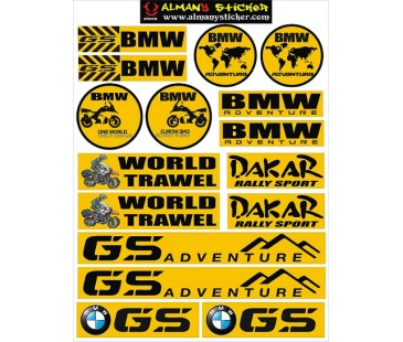 Bmw gs sticker set.bmw sticker,motosiklet sticker