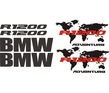 Bmw r1200 sticker set,bmw sticker,motosiklet sticker-2