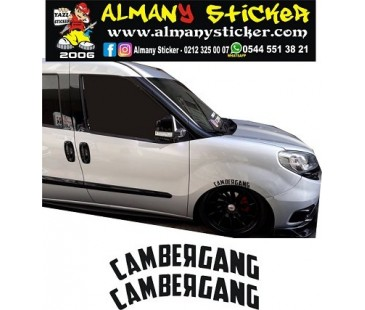 CAMBERGANG STİCKER, OTO STİCKER