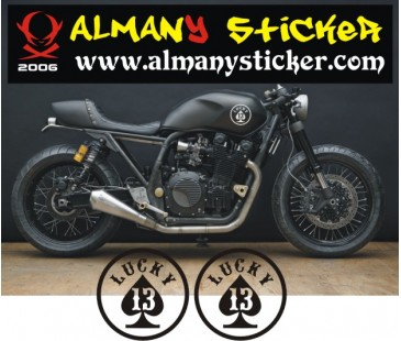 Cafe Racer sticker,Lucky (şans) sticker
