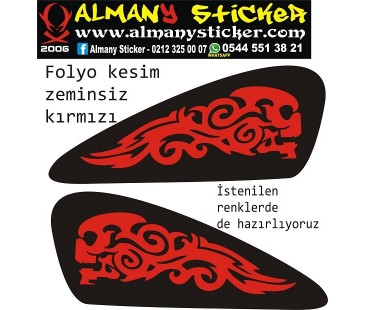 Chopper depo kurukafa sticker set-5,motosiklet sticker