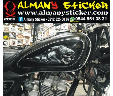 Chopper depo kurukafa sticker set,motosiklet sticker