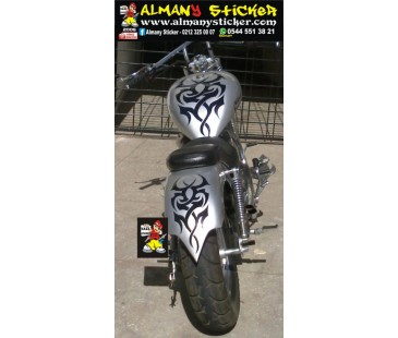 Chopper tribal sticker,motosiklet sticker
