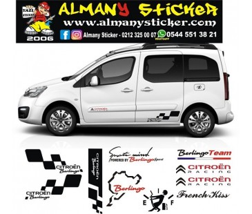 Citroen Berlingo sticker set,berlingo sticker,citroen sticker,oto sticker,araba yazıları