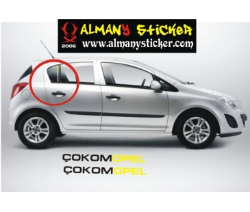 Çokomopel sticker,opel sticker,corsa sticker,astra sticker,oto sticker