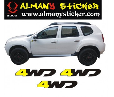 Dacia Duster  4wd sticker