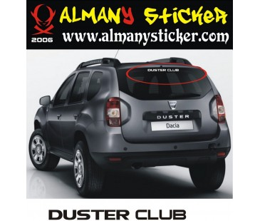 Dacia Duster club sticker