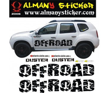 Dacia Duster off road sticker
