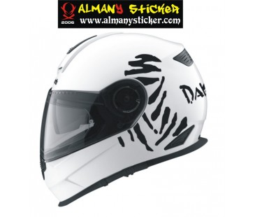 Dakar Kask Sticker
