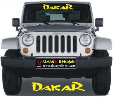 Dakar Ön Cam Sticker,Jeep Sticker