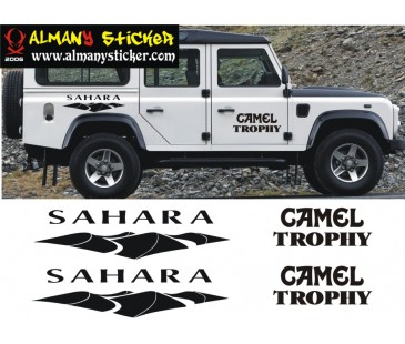 Defender Sahara,Camel Trophy Sticker Set